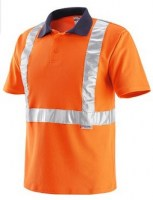 POLO ORANGE POLYESTER HV-NEW Soluprotech